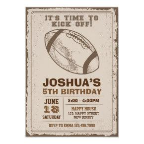 American Football Birthday Invitations