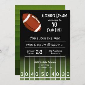 American Football Birthday Party