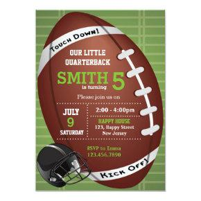 American Football Invitations