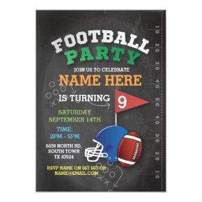 American Football Party Invite Birthday Invitations