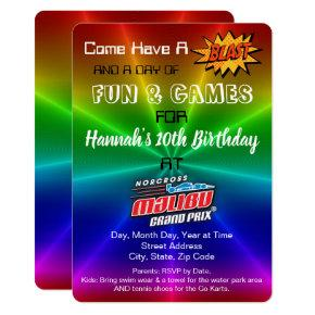 Amusement Park Birthday Invitation