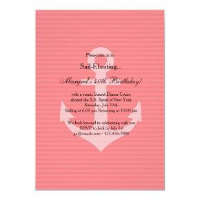 Anchor in Pink Invitations