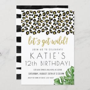 Animal Print Let's Get Wild Safari Jungle Invite