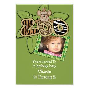 Animal Zoo Birthday Party Invitation