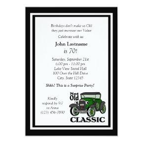 Antique Car Birthday Invite