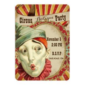 Antique Circus Theme Party Invitation