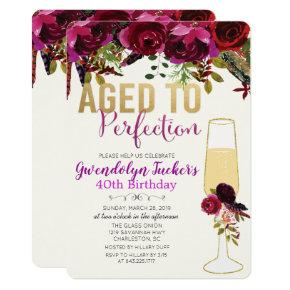 ANY AGE - Aged to Perfection Birthday Invitation