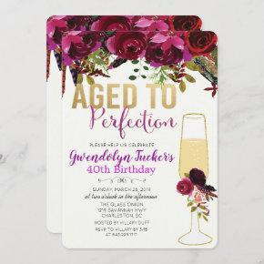 ANY AGE - Aged to Perfection Birthday Invitation