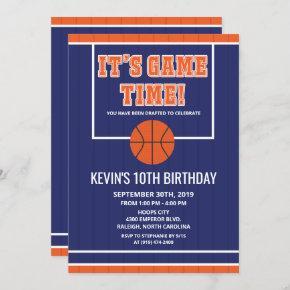 ANY AGE - Basketball Birthday Invitation