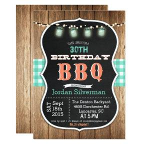 ANY AGE - Birthday BBQ Barbecue Chalk Invitations