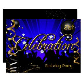 Any Age Birthday Party Celebration Teens or Adults Invitations