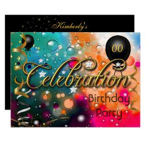 Any Age Birthday Party Celebration Teens or Adults Invitation