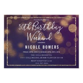 ANY AGE - Birthday Weekend Lights Invitation