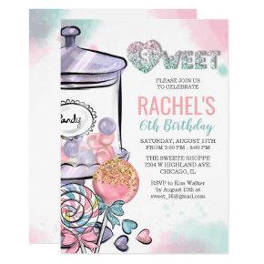 ANY AGE - Candy Theme Birthday Invitation