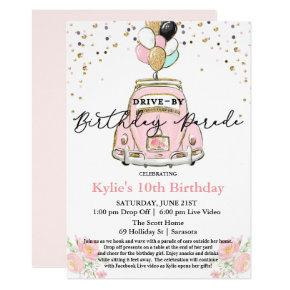ANY AGE - Drive By Birthday Party Invitation