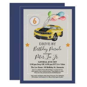 ANY AGE - Drive By Virtual Boy Birthday Party Invitation