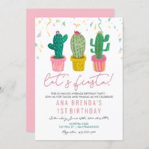 ANY AGE - Fiesta Cactus Birthday Invitation