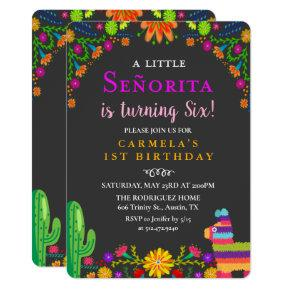ANY AGE - Fiesta Senorita Birthday Invitation