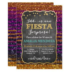 ANY AGE - Fiesta Surprise Birthday Invitations