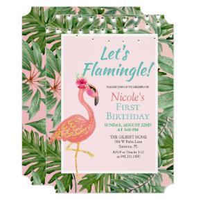 ANY AGE - Flamingo Flamingle Birthday Invitation