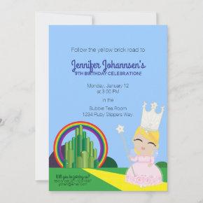 ANY AGE Glinda of Oz BIRTHDAY PARTY invitation