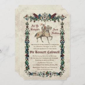 ANY AGE - Medieval Renaissance Birthday Invitation
