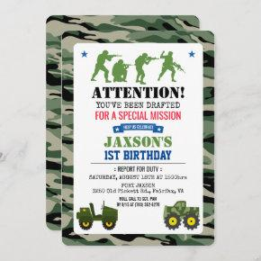 ANY AGE - Military Birthday Invitation