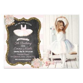 ANY AGE - Tutu Ballerina Birthday Invitation