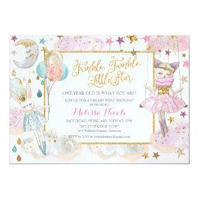 ANY AGE - Twinkle Little Star Birthday Invitation