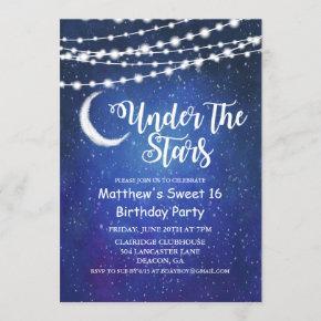 ANY AGE - Under the Stars Birthday Invitation