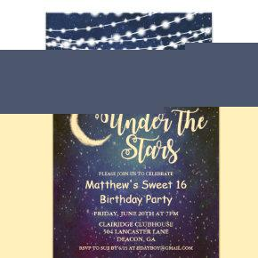 ANY AGE - Under the Stars Birthday Invitation