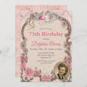 ANY AGE - Vintage Victorian Birthday Invitation