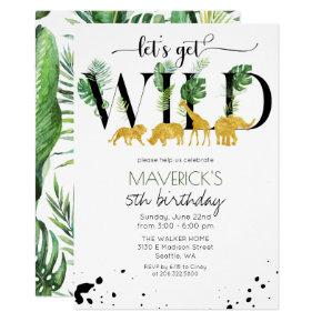ANY AGE - Wild Birthday Jungle Safari Invitation