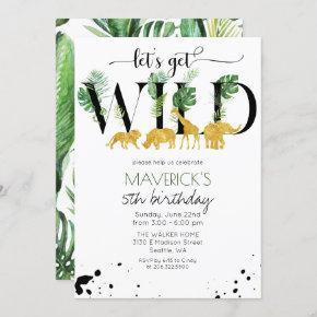 ANY AGE - Wild Birthday Jungle Safari Invitation