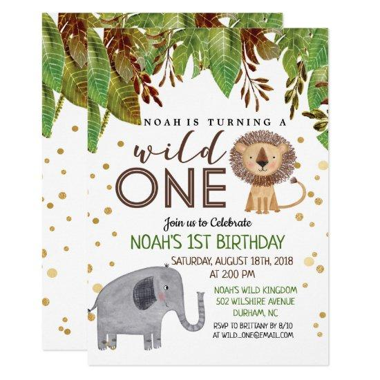 ANY COLOR Wild ONE 1st Birthday Invitation Boy Candied Clouds