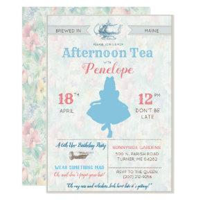 ANY EVENT - Alice in Wonderland Tea Party Invitations