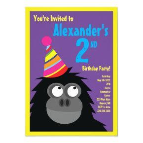 Ape Animal Kid's Birthday Party