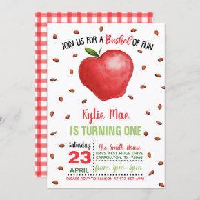 Apple Birthday Invitation - Bushel of Fun