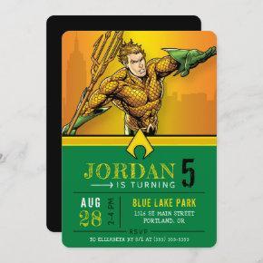 Aquaman   Happy Birthday Invitation
