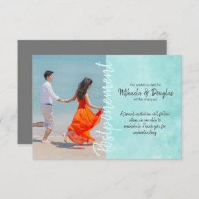 Aquamarine Wedding Postponement
