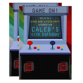 Arcade Video Game Birthday Party Invitation