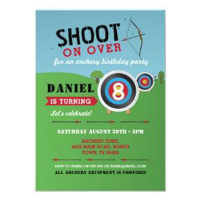 Archery Birthday Invitation Bow Arrows Target