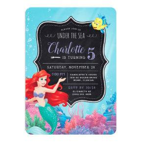 Ariel | The Little Mermaid | Chalkboard Birthday Invitations
