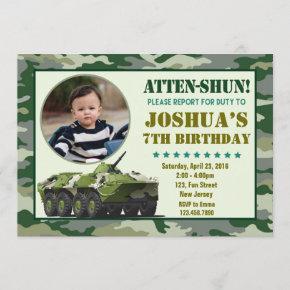 Army Birthday invitation