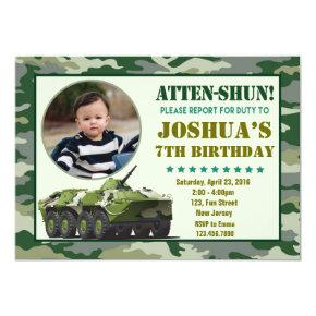 Army Birthday Invitations