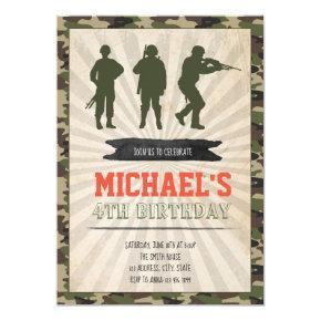 Army birthday party invitation