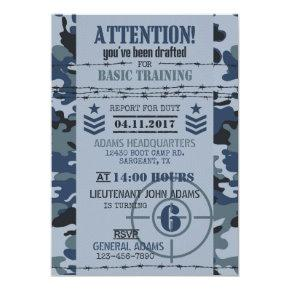 Army Navy Camouflage Military Birthday Card