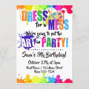 Art / Paint / Craft Birthday Party