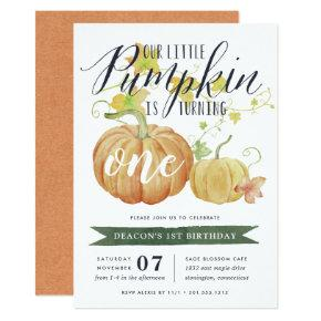 Autumn Pumpkin | Any Age Birthday Party Invitation