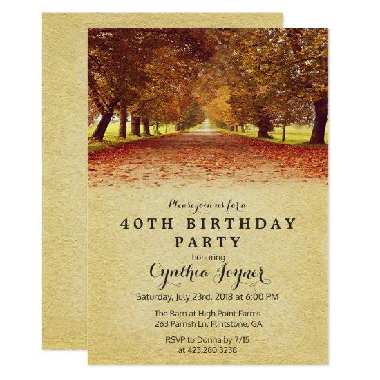 autumn rustic fall autumn birthday invitations candied clouds